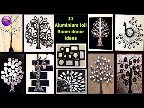 11 Aluminium Foil Craft Ideas Waste Material Craft Ideas Fashion Pixies Youtube Aluminum Foil Crafts Craft From Waste Material Wall Decor Crafts