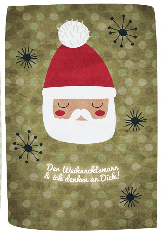 Der Weihnachtsmann & ich denken an dich | Frohe Weihnachten | Echte…