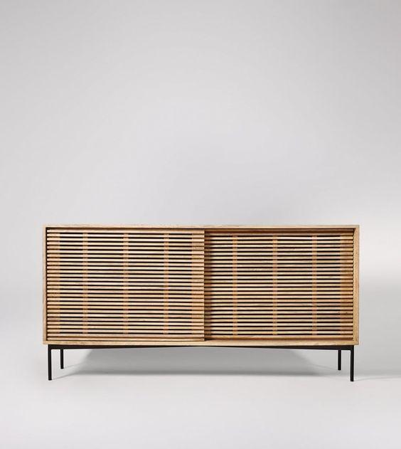 Weaving Natural Mango Wood Sideboard | Swoon Editions