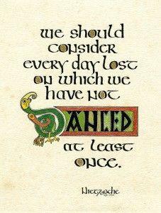 Happy Hour Calligraphy Irish Half Uncial Classes