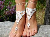Sandales, Crochet sandales aux pieds nus mariage plage est une création orginale de edity sur DaWanda