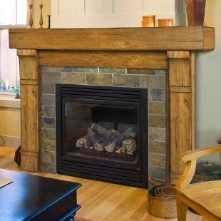 elegant rustic fireplace mantel surround Favorite Places