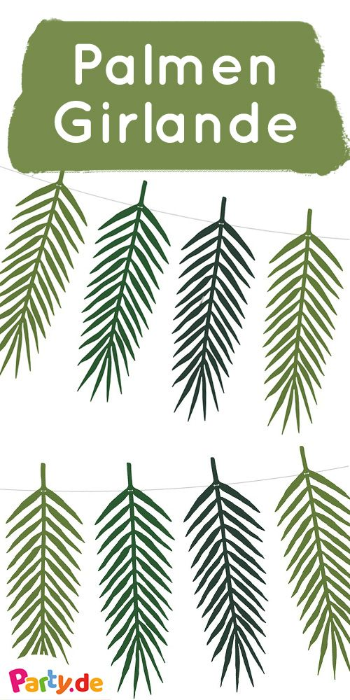 Palmenblätter Deko.Palmenblätter Girlanden Set Kohakai Ananas