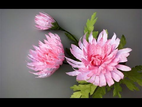 Abc Tv How To Make Pink Chrysanthemum Flower From Printer Paper Craft Tutorial Chrysanthemums S In 2020 Paper Flowers Craft Paper Flower Tutorial Paper Flowers Diy