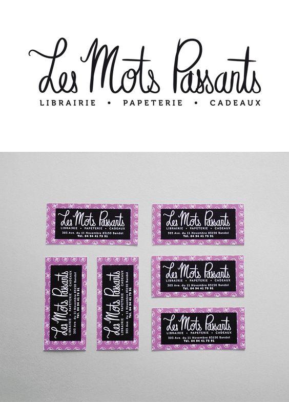 cartes marque-page LES MOTS PASSANTS by Pépite Communication