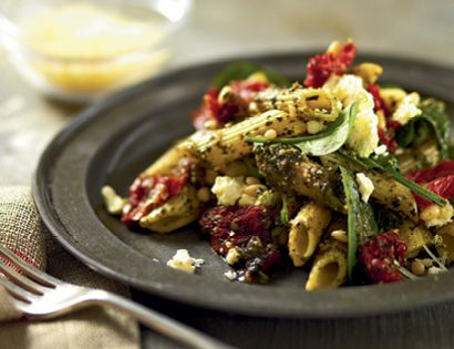 Pesto pasta salad, Pasta salad with feta and Pesto pasta on Pinterest