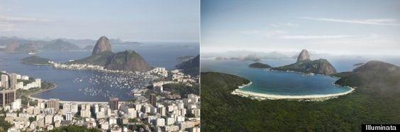 Empresa cria imagens do Rio de Janeiro sem prédios (FOTOS)