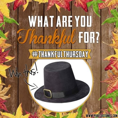 Thankful Thursdays | Pure Costumes Blog #giveaways #Thanksgiving