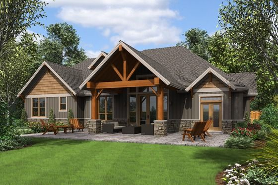 Craftsman Style House Plan 4 Beds 4 Baths 3340 Sq Ft Plan 48 681 Craftsman Style House Plans Craftsman House Plans Craftsman House Plan