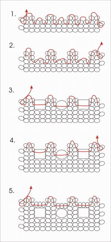 herringbone stitch bracelet 3 of 3 (tutorial)