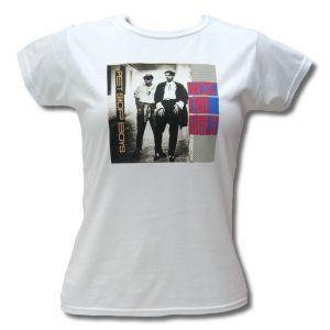 Pet Shop Boys West End Girls Design on Skinny Fit White T-Shirt