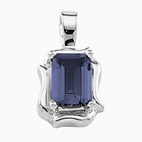 Platinum Emerald Cut Iolite Pendant Gems-is-Me. $640.09. This item will be gift wrapped in a beautiful gift bag. In addition, a 'gift message' can be added.. FREE PRIORITY SHIPPING. Save 40%!