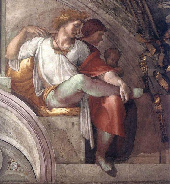 A moldura de Eleazar e matã veio com frescos de Michelangelo buonarroti em 1508 aproximadamente e faz parte da decoração da parede de fundo da Capela Sistina nos museus do Vaticano em Roma. Foi realizada no âmbito dos trabalhos à decoração da vez, encomendado por Júlio II.