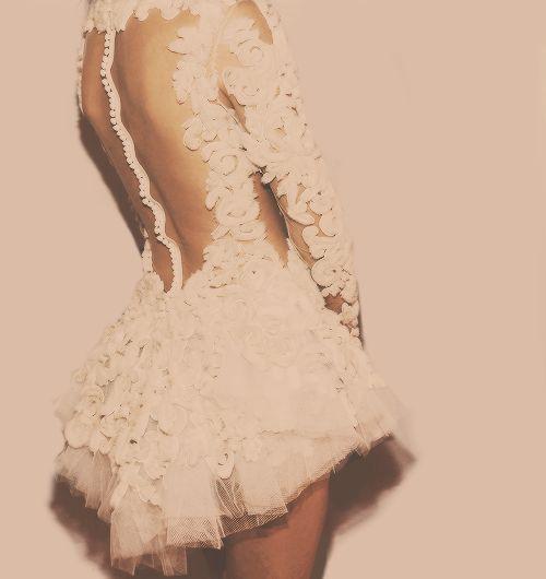 Beautiful back and dress detail!