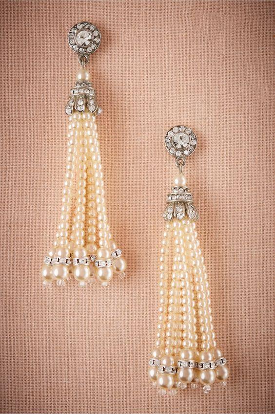 flapper girl style | Theda Tassel Earrings from BHLDN