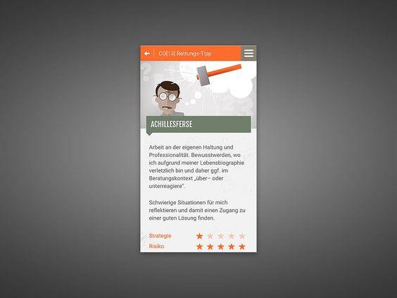 CO13 Notfallkoffer App - Für CO13, die Gruppe für systematische Beratung, haben wir ein nicht ganz ernstgemeintes, aber ironischerweise wertvolles Tool zur Notfallbehandlung von Beraterinnen und Beratern entwickelt. Die App voller skurriler Methoden und provokanter Illustrationen ist genau das richtige Kommunikationsmittel für eine Firma, die schon ihren eigenen Fanshop betreibt. Erhältlich als App im Google Play Store, sowie im iTunes Store.
