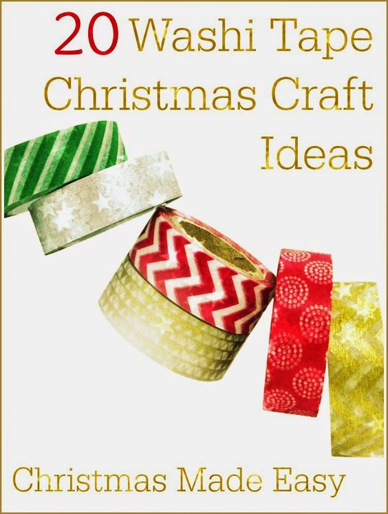 20 beautiful washi tape christmas craft ideas christmas