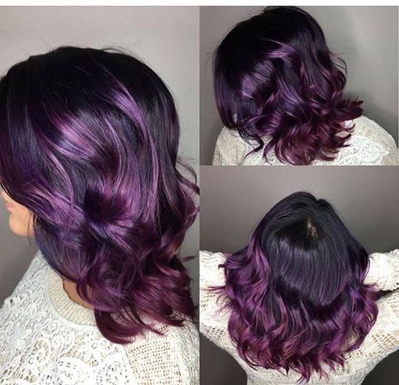 Grape 🍇 by Justin @hewesofhair 💜 @theliftasalon 😈 @theliftluxuryflats 🍆 @pulpriothair 🏳️🌈