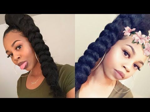 Jumbo Braid High Ponytail W X2f Braiding Hair Crystyle Beauty Youtube High Ponytail Hairstyles High Ponytail Braid Braided Hairstyles