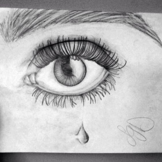 Drawing A Teardrop: Pencil Drawing. Sketch. Left Eye. Teardrop. Amazing