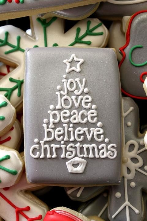 Love these decorated Christmas cookies that use a basic rectangular shaped cutter
