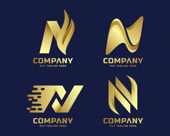 Logotipo De Luxo Criativo Letra N Premium Para Empresa N Logo Design Letter Logo Design Logos