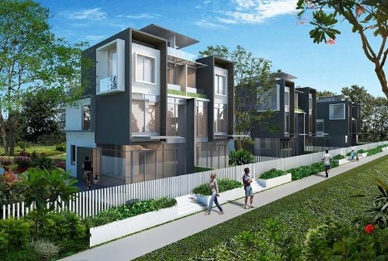 Belgravia Villas cluster housing comprises an exclusive collection of 100 strata terrace houses and 18 semi-detached houses.