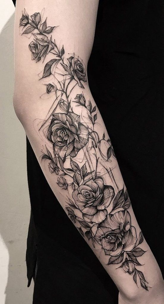 Tattoo, flower tattoo, unique tattoo, tattoo design