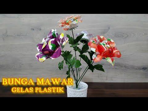 Kreasi Bunga Dari Gelas Plastik Trik Idetrik Youtube Bunga