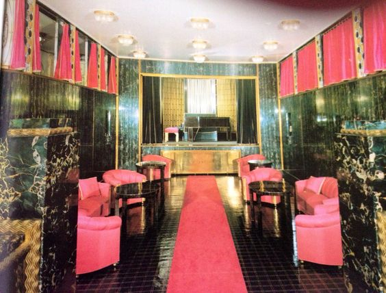 Palais Stoclet Pink, marble, brass, velvet combo