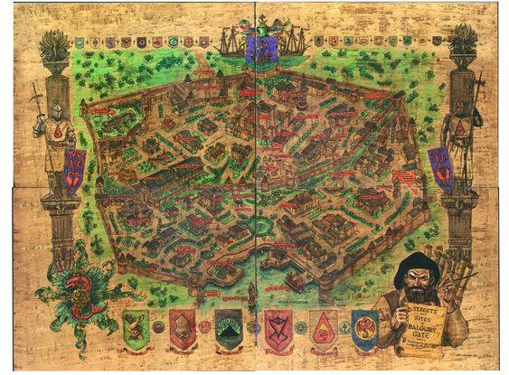 Baldurs Gate 2k Wallpaper Hdwallpaper Desktop Fantasy World Map Fantasy Map Baldur S Gate