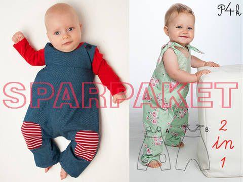 """Sparpaket Baby Overall """"Lotte"""" und """"Arturo"""" als Kombipaket / Set - Schnittmuster und Nähanleitungen bei Makerist sofort runterladen"""