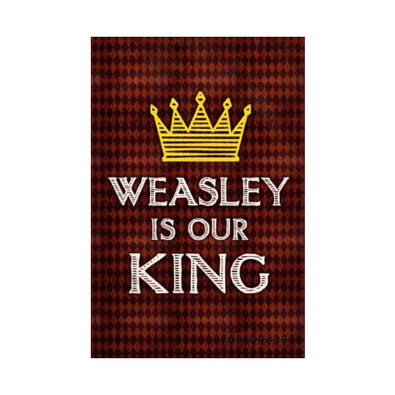 Weasley Is Our King Movie ❤ liked on Polyvore featuring home, home decor and movie home decor