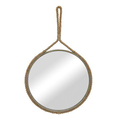 Chequered KOUBOO Round Rope Wall Mirror
