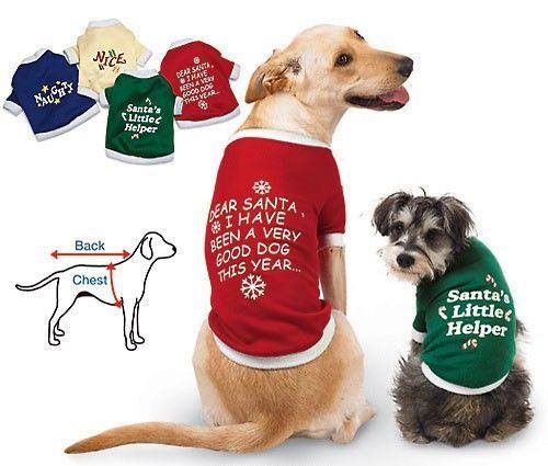 Holiday Christmas Dog T Shirt - Click Image to Close