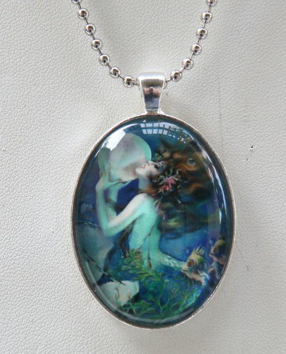 more mermaid necklace mermaids pearls art nouveau necklaces deco art
