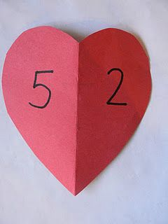 part part total hearts- matching recording sheet-- for the fact family-- total on the other side