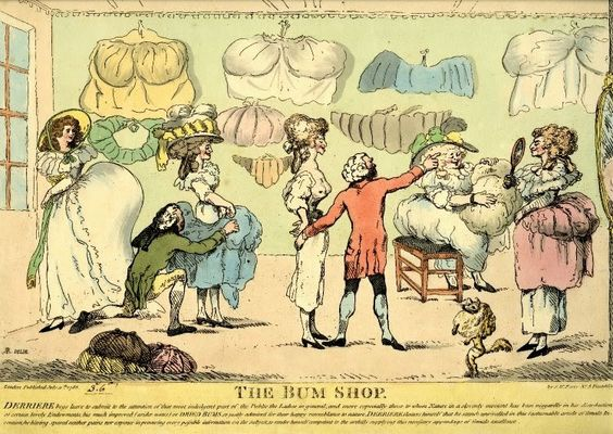 The Bum Shop, published by S.W.Fores, London, 1785. The British Museum. via 2NHG