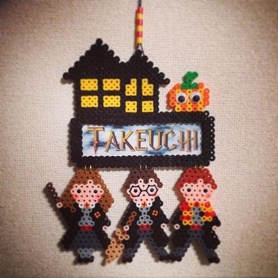 Custom Harry Potter Halloween wall decor perler beads by  ringo_0122