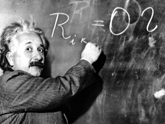 "On Albert Einstein's report card - socks don't match, talks to himself, ""could be retarded."" From Failure to Success http://mariannaheusler.typepad.com/"
