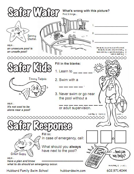 Kids worksheet | Water Safety | Pinterest | Kids Worksheets ...