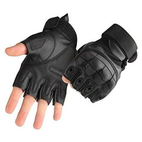 Men Tactical Military Half Finger Gloves Bicycle Army Hiking Sport Fingerless US