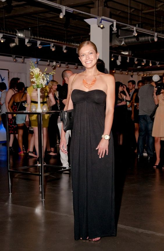 Black Tube Dress, Statement Necklace, Watch