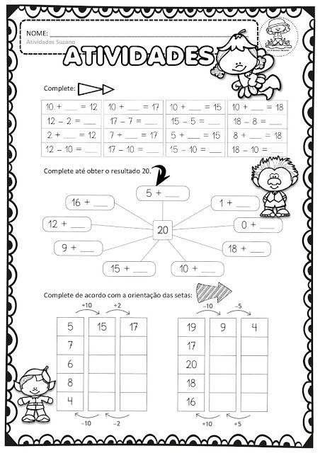 Pin Em Atividades Matematicas
