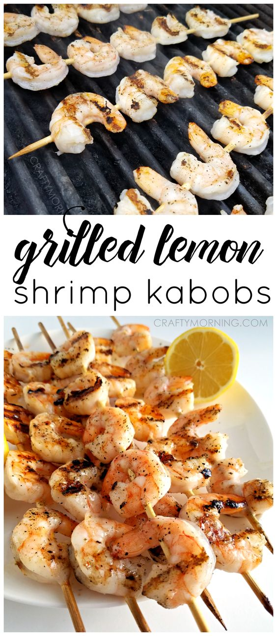 My husband grilled these lemon shrimp kabobs and the sauce was AMAZING!!! This recipe is a keeper for summer BBQs