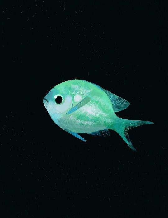 Happydorid Blue Green Chromis For Fish Streak Colorful Animals Fish Animal Drawings