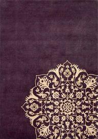 Rangoli-inspired rug: Indian Rangoli Designs, Indian Design, Purple Rugs, Living Room, India Mandala, Floral Pattern, Indian Pattern Design, Indian Patterns