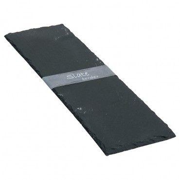 Schieferplatte ca. 38 x 13 cm -sowas in die deko einbauen