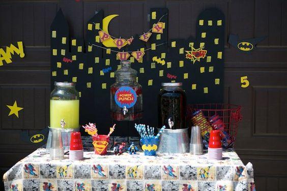 Superhero themed birthday party with SO MANY AWESOME IDEAS via Kara's Party Ideas | Cake, decor, cupcakes, games and more! KarasPartyIdeas.com #superhero #superheroparty #superherocake #partyideas #partydecor (22)