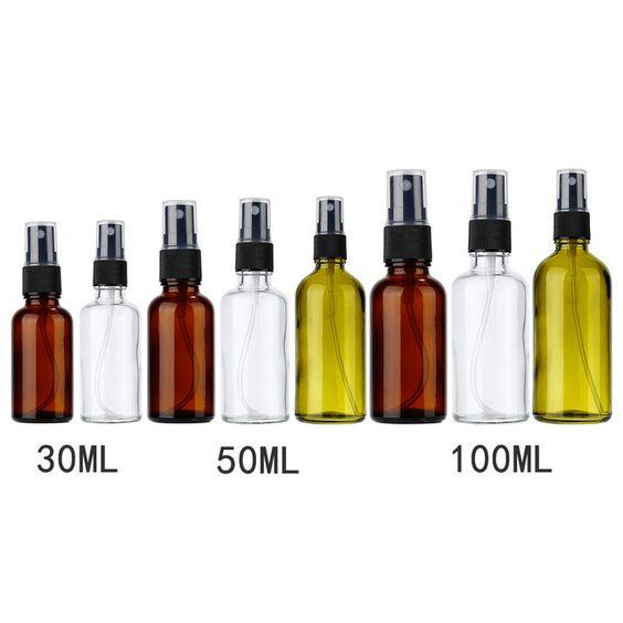 1 Pc 30 50 100ml Refillable Esstenial Oil Atomizer Empty Makeup Spray Bottle 3 Sizes Optional Portable Glass Sprayer For Liqu Bottle Makeup Spray Glass Sprayer